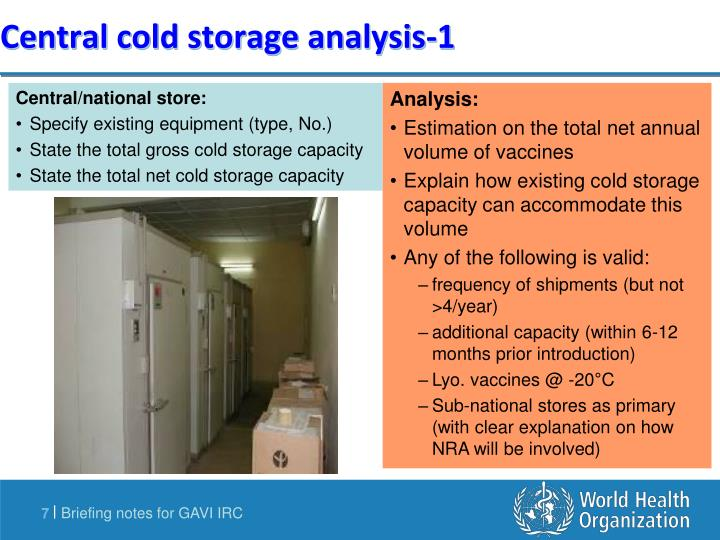 Central cold storage analysis-1