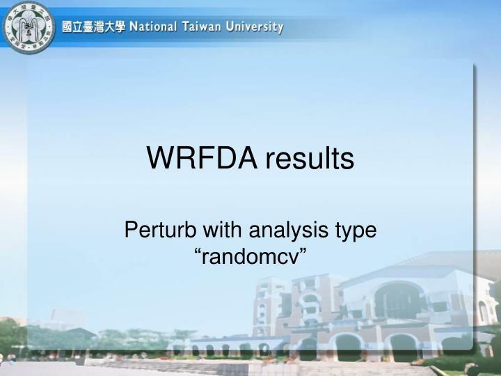 WRFDA results