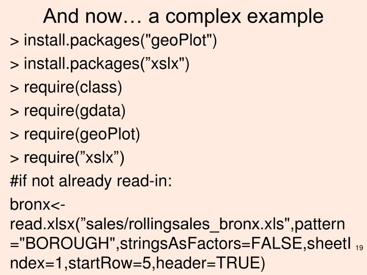 And now… a complex example