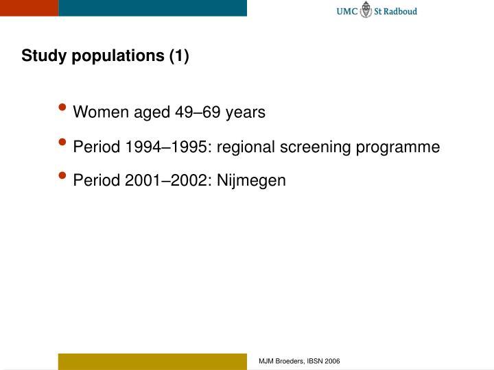 Study populations (1)