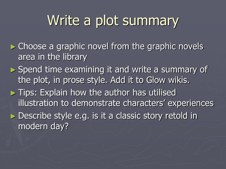 Write a plot summary