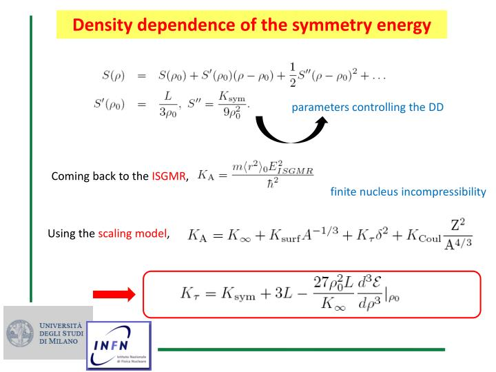 Density dependence of the symmetry energy