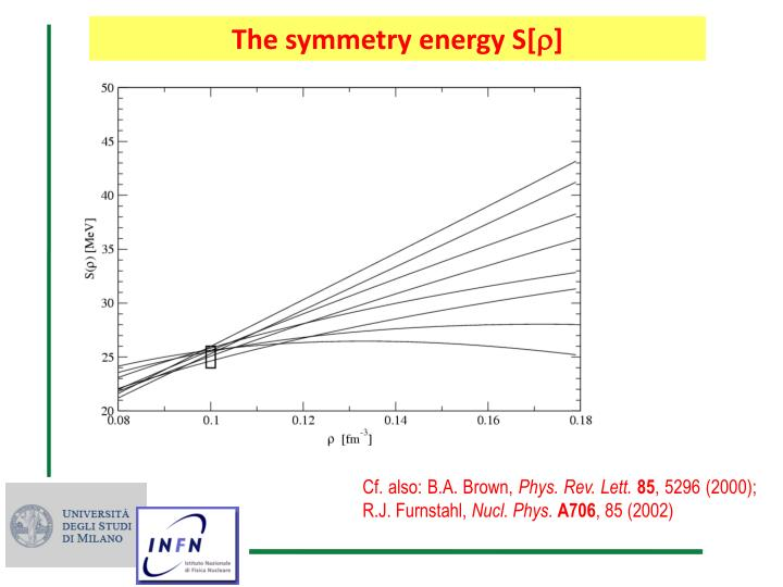 The symmetry energy S[