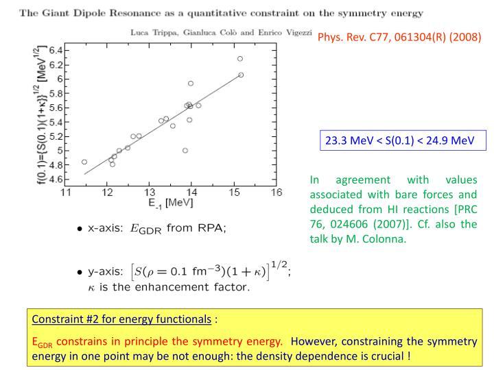 Phys. Rev. C77, 061304(R) (2008)