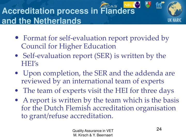 Accreditation process in Flanders and the Netherlands