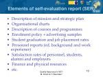 elements of self evaluation report ser
