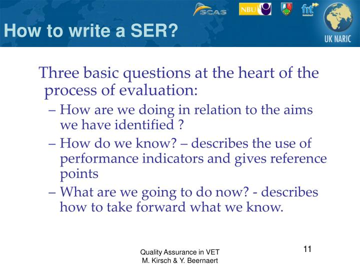 How to write a SER?