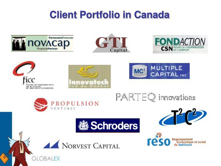 Client Portfolio in Canada