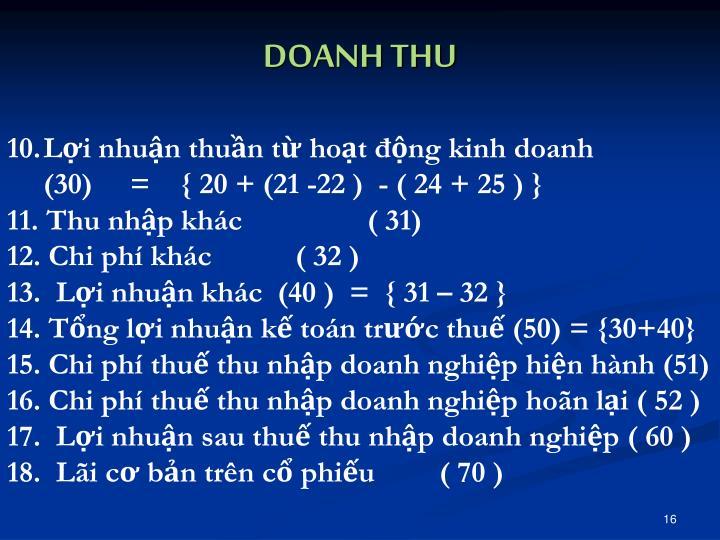 DOANH THU