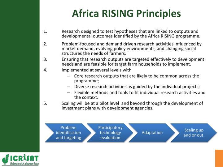 Africa RISING Principles