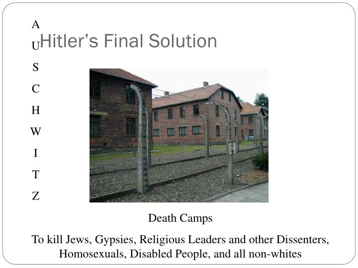Hitler's Final Solution