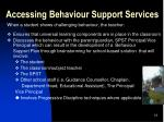 accessing behaviour support services