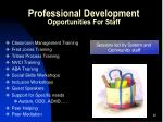 professional development opportunities for staff