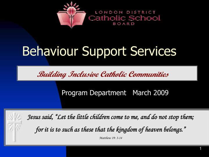 Behaviour Support Services