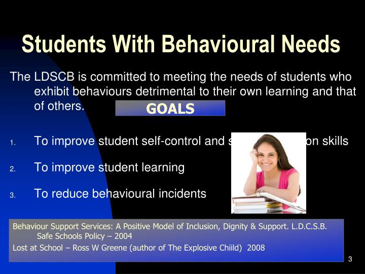 Students with behavioural needs