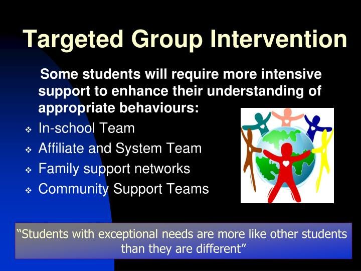 Targeted Group Intervention