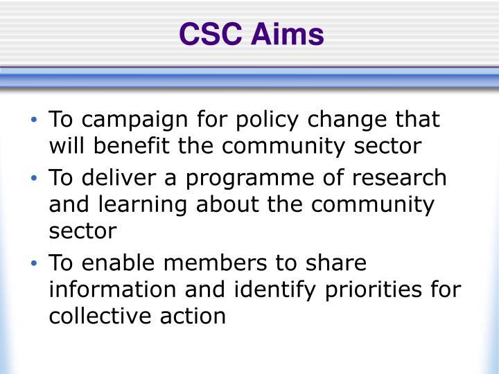 CSC Aims