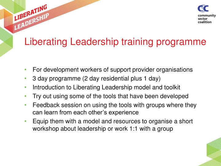 Liberating Leadership training programme