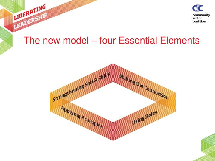 The new model – four Essential Elements