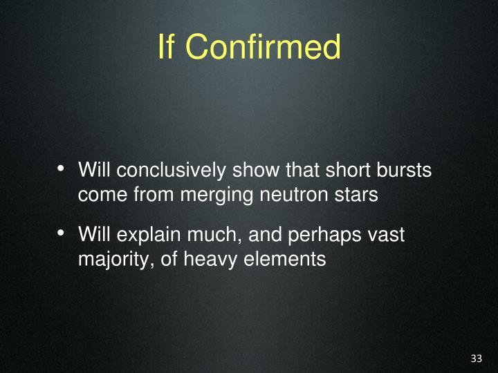 If Confirmed