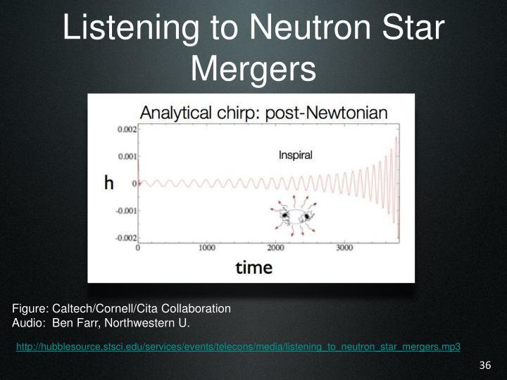 Listening to Neutron Star Mergers