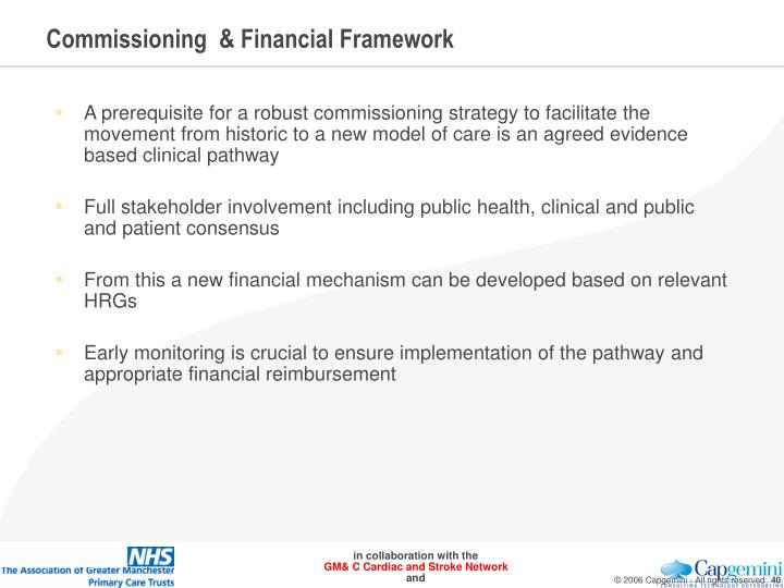 Commissioning  & Financial Framework