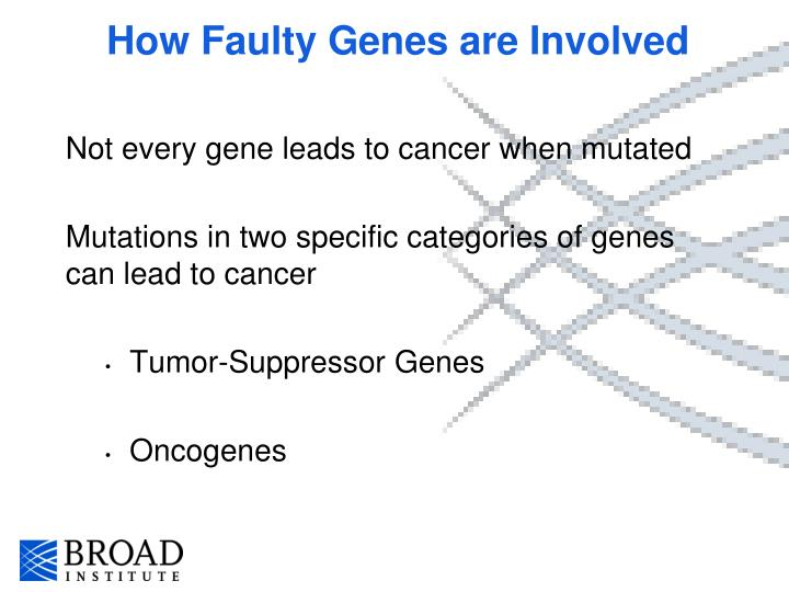 How Faulty Genes are Involved