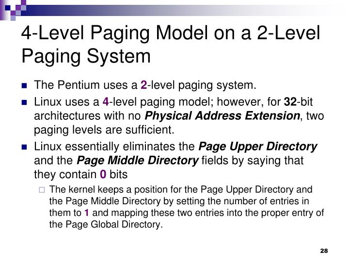 4-Level Paging Model on a 2-Level Paging System