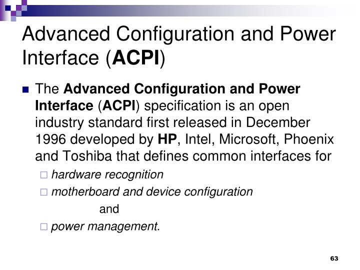 Advanced Configuration and Power Interface (