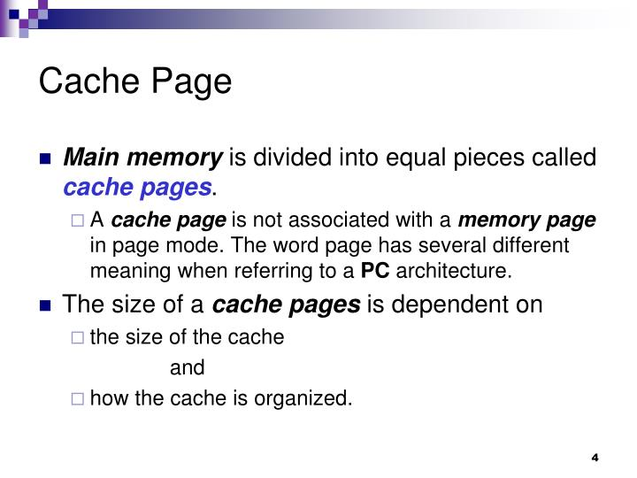 Cache Page
