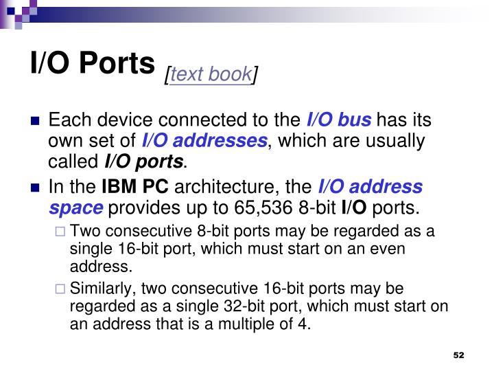I/O Ports