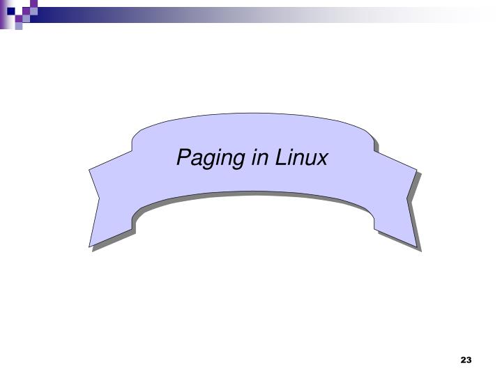 Paging in Linux