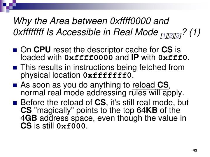 Why the Area between 0xffff0000 and 0xffffffff Is Accessible in Real Mode