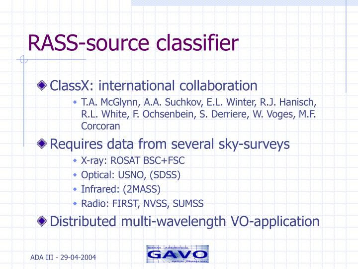 RASS-source classifier