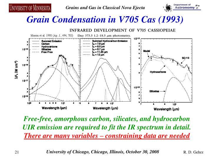 Grain Condensation in V705 Cas (1993)