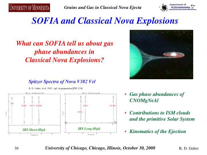 SOFIA and Classical Nova Explosions