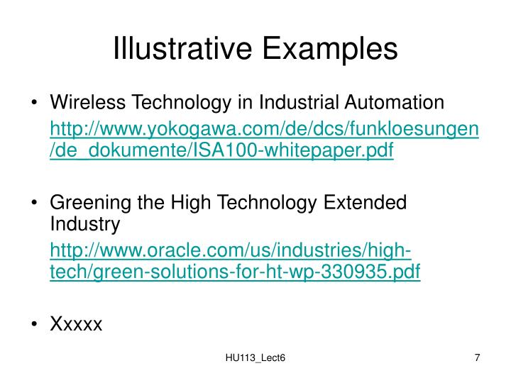 Illustrative Examples