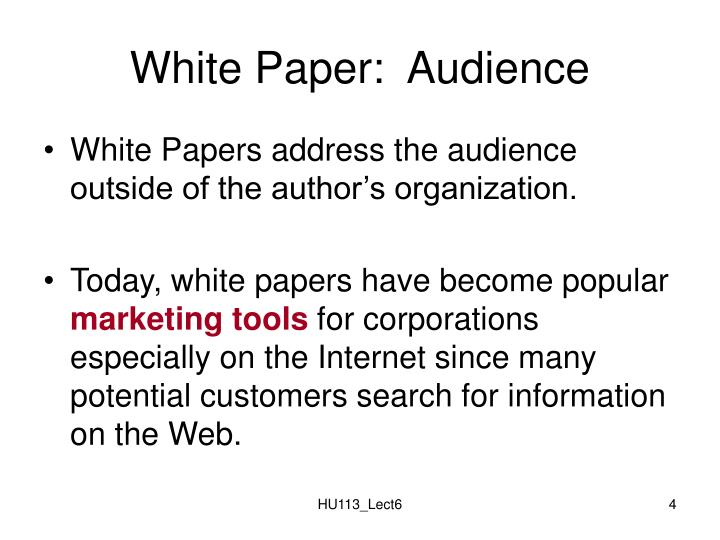 White Paper:  Audience