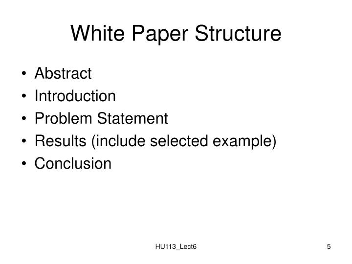 White Paper Structure