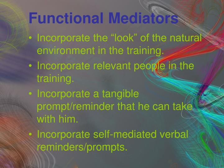 Functional Mediators