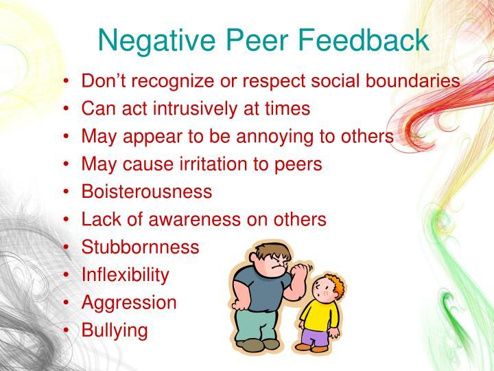 Negative Peer Feedback