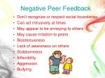 negative peer feedback