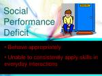 social performance deficit