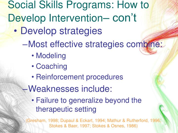 Social Skills Programs: How to Develop Intervention