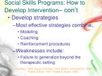 social skills programs how to develop intervention con t1