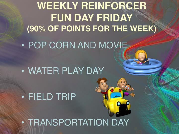 WEEKLY REINFORCER
