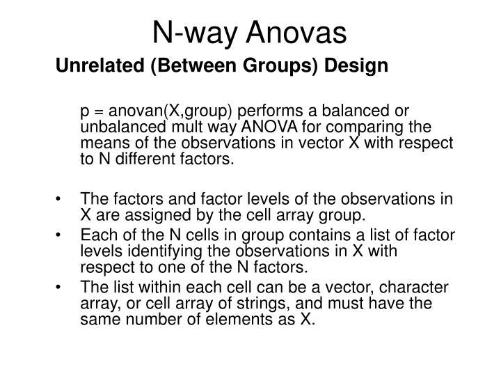N-way Anovas