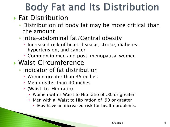 Body Fat and Its Distribution