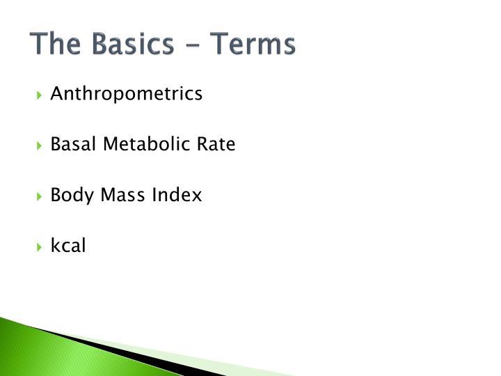 The Basics - Terms