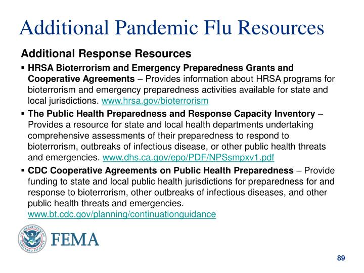 Additional Pandemic Flu Resources